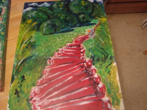 Pathways #1 - Over the Hill - inspired by Moundville, AL